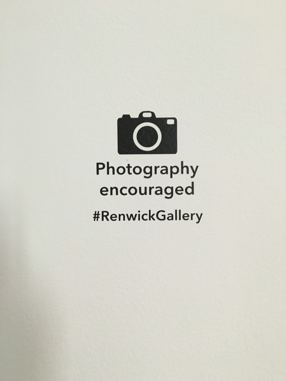"""Photography encouraged"" sign- pretty cool."